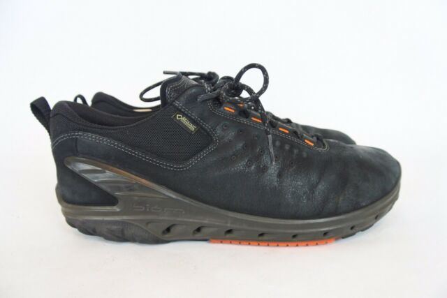 ECCO Biom Venture Gore Tex men's Waterproof Black Leather Hiking Shoes Size 9