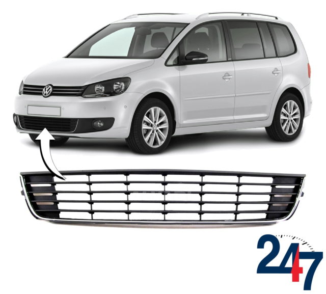 Volkswagen Caddy 2010-2015 Front Grille No Chrome Trim With Moulding New