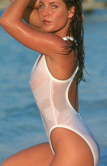 UjENA White Sheer When Wet 1-PC  Swimsuit