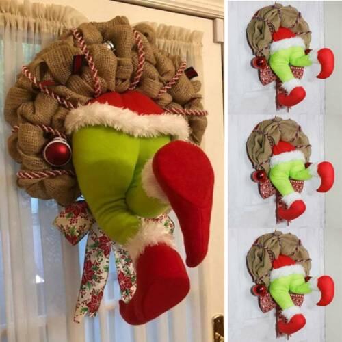 • Gift US How The Grinch Stole ▪ Burlap Wreath Door Decorate