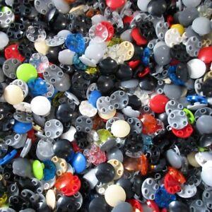 Used-LEGO-500g-Packs-Round-Parts-2654-Platte-Rund-2-x-2-mit-runder-gla