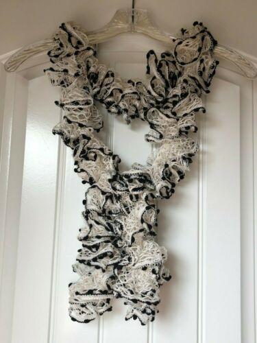 Handmade Crocheted Fashion Ruffle Scarf Tuxedo Fancy