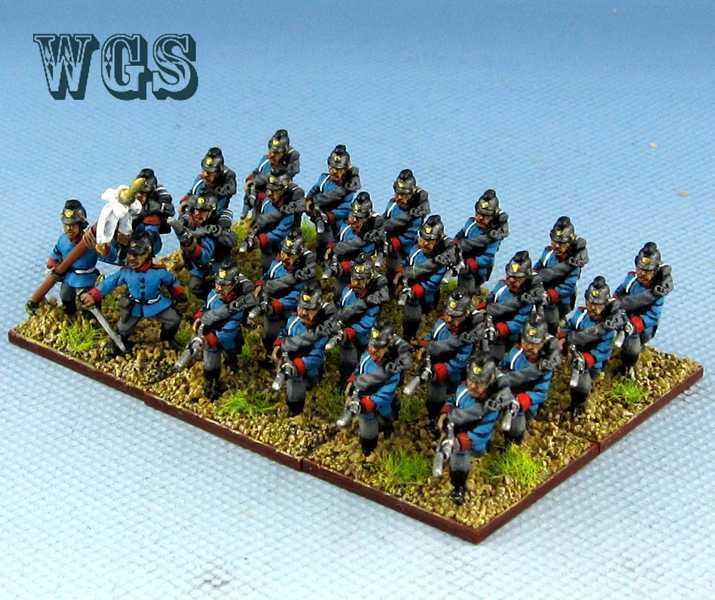 15mm Franco - preussiska krigskrigs - WGS målade preussiska bayerska infanteriet PFC005