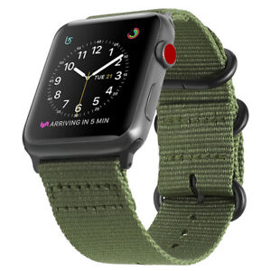 For-Apple-Watch-Band-42mm-Series-3-Series-2-Series-1-Woven-Nylon-Sport-Strap