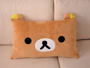 Cute-63-43cm-Pillow-Case-Top-Sale-Rilakkuma-Brown-Relax-Bear-San-X-Plush-Cover