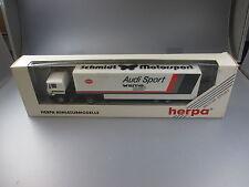 "Herpa:MAN Planen Zug ""Audi Sport sms Schmidt Engeneering"" LKW Nr.859192  (SSK55)"