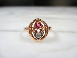 Victorian Gold and Diamond Sweetheart Ring