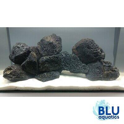 Aquarium Lava Rock Natural Black Stone Fish Tank Decoration Cichlid Aquascape Ebay