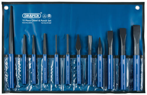 Cold Chisel And Punch Set 12 Piece Draper 26557