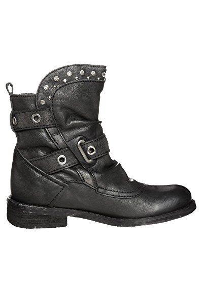 Felmini Drive - Vaquero Motero BOTAS DE PIEL - black black black ee216b