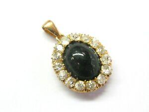 Vintage-Noir-Etoile-Saphir-et-Diamant-Pendentif-18Kt-or-Jaune-1-40Ct