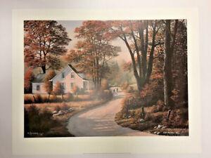 Constructif Côté Par Bill Saunders Édition Limitée 96/500 Lithographie Art Imprimé 25x32 Promouvoir La Santé Et GuéRir Les Maladies