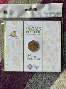 NEW-Mr-Jeremy-Fisher-50p-BUNC-In-Sealed-Royal-Mint-Packaging-2017