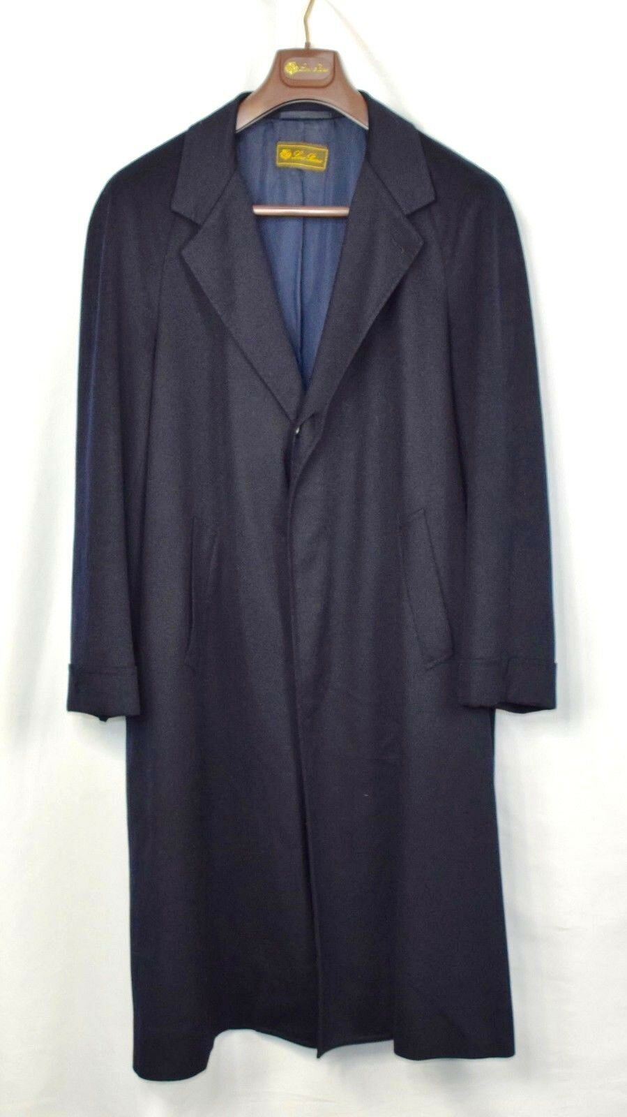 Loro Piana 100% Cashmere Navy Blau Long Trench Storm System Coat  50 3995