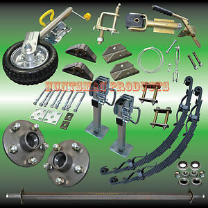 camper-trailer-DIY-set-axle-springs-j-wheel-parts