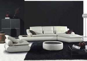 Divano salotto pelle moderno sofa americano soggiorno for Divano rotondo