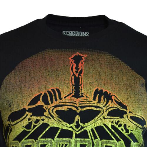 SCORPIONS homme TEE T SHIRT Metal Hard Rock Music Vintage Tour S manche noir NEUF
