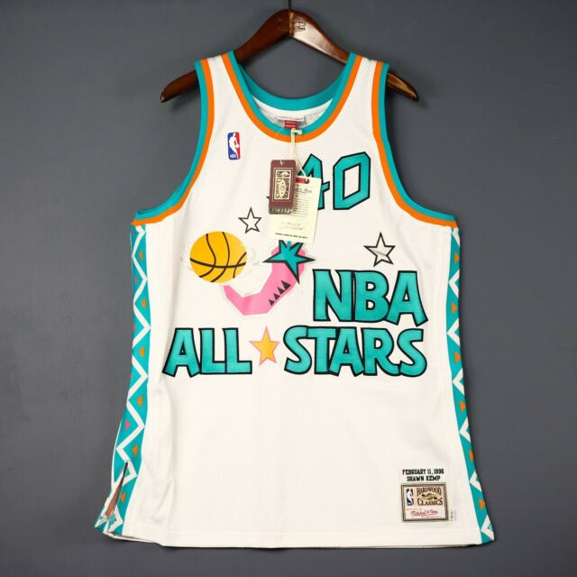 100% Authentic Shawn Kemp Mitchell Ness 1996 All Star Jersey Size 48 XL Mens 787c646e3