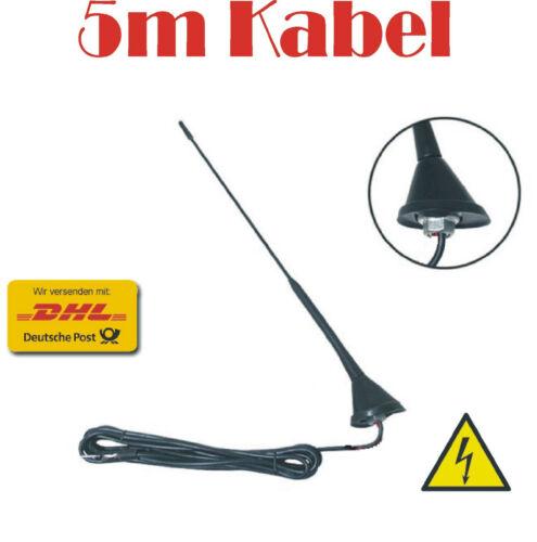 5m Câble top De voiture intermédiaire antenne tige 16v avec socle incl