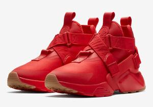 Nike Air Huarache City Men's Sneakers AH6787 600 Speed Red Speed Red-Black