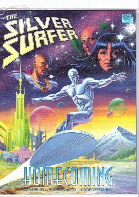Marvel Graphic Novel Silver Surfer Homecoming By Bill