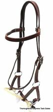 D.A. Brand Dark Oil Leather Brow Band Sidepull w/Bit horse tack equine