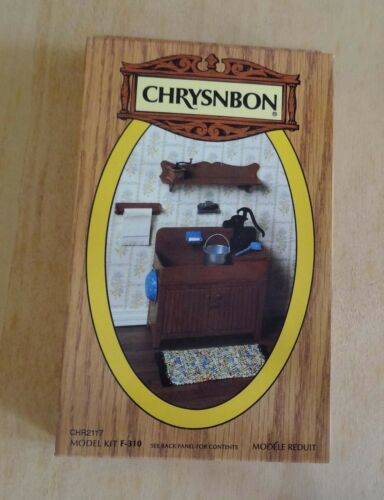 1:12 Scale Chrysnbon Furniture Kit, With Dry Sink and More