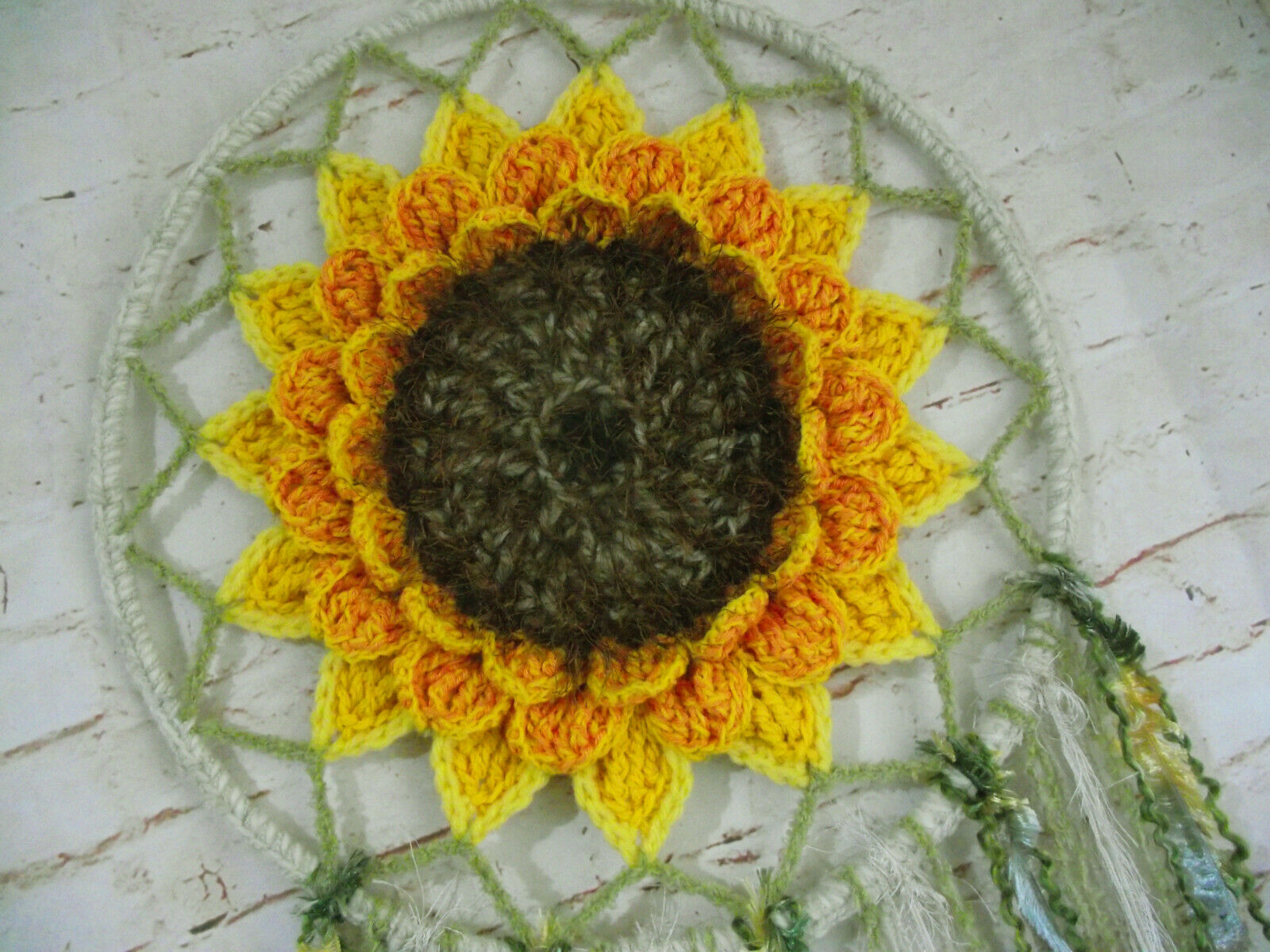 Dream catcher Large sunflower wall hanging boho floral rustic wedding decoration