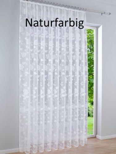 Gardinen-Stores Naturfarbig H//175 x B//750 cm Fertiggardinen Vorhang