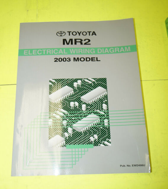 2003 Toyota Mr2 Oem Evtm Electrical Wiring Diagram Book