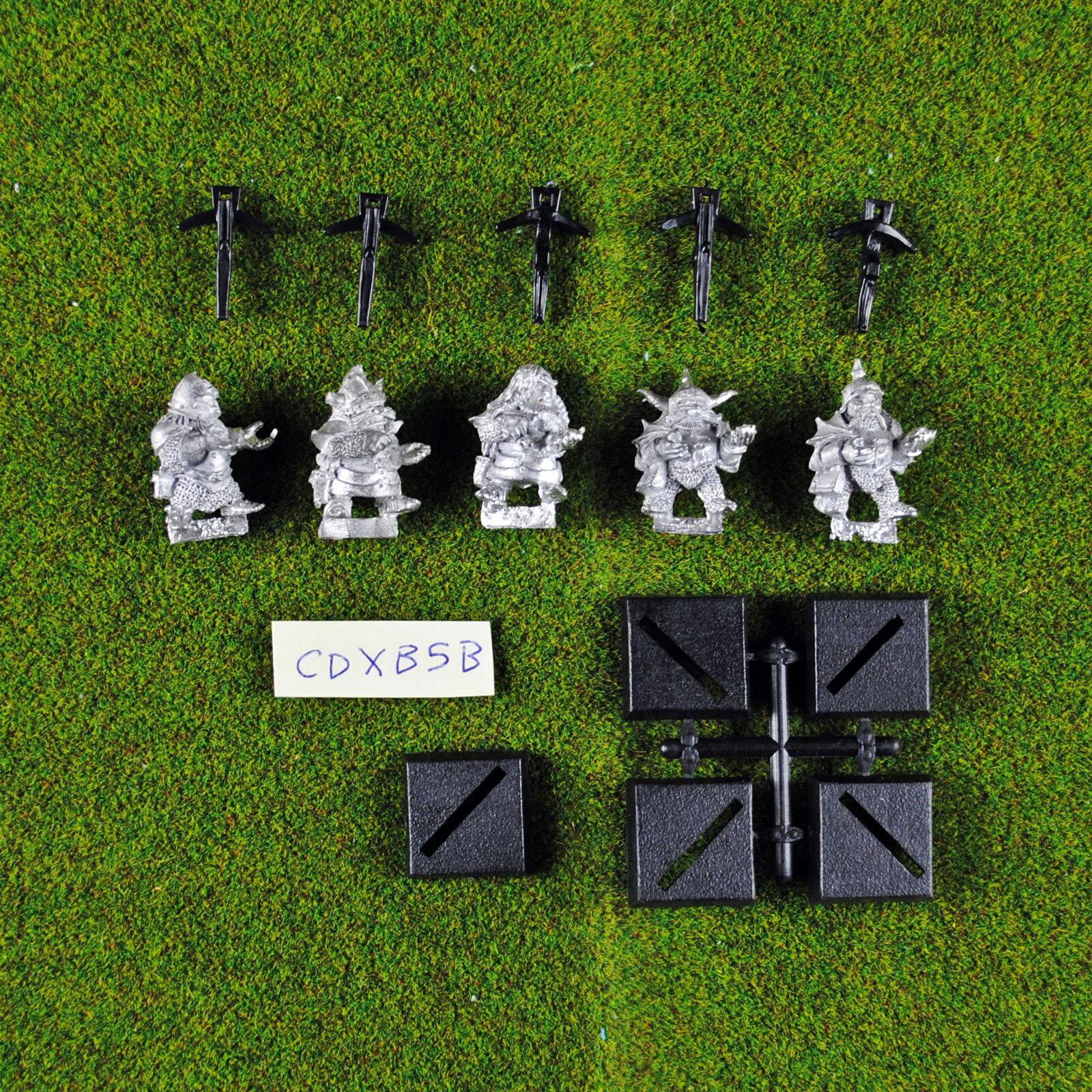 Warhammer chaos zwerg armbrüste (x5) selten & oop - zitadelle reich des chaos zwerge
