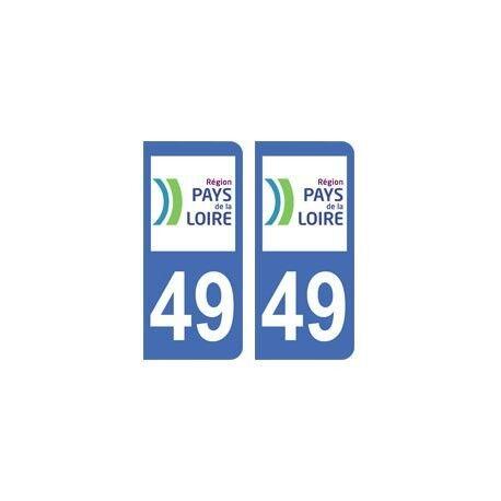 49 Maine et Loire autocollant plaque arrondis