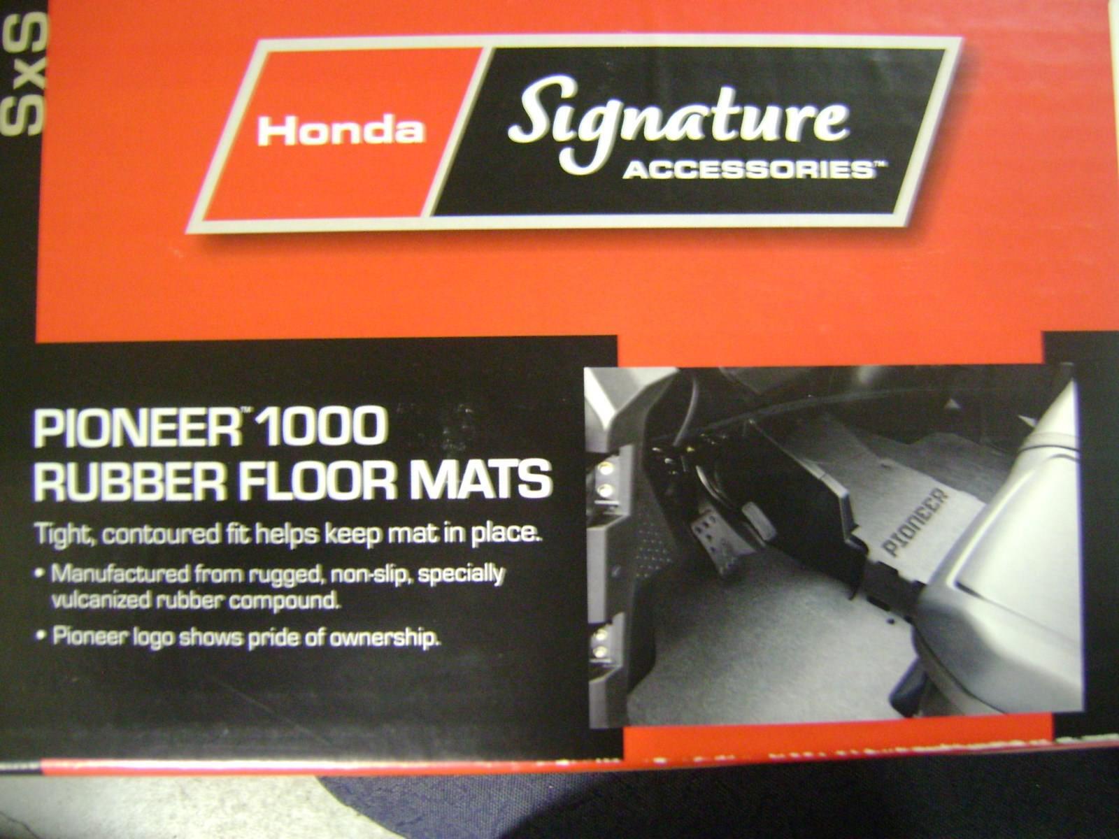 Honda Pioneer 1000 3p 5p Eps Le Deluxe Rubber Floor Mats 0sp63 Hl4 Cargo Tray 101 Ebay