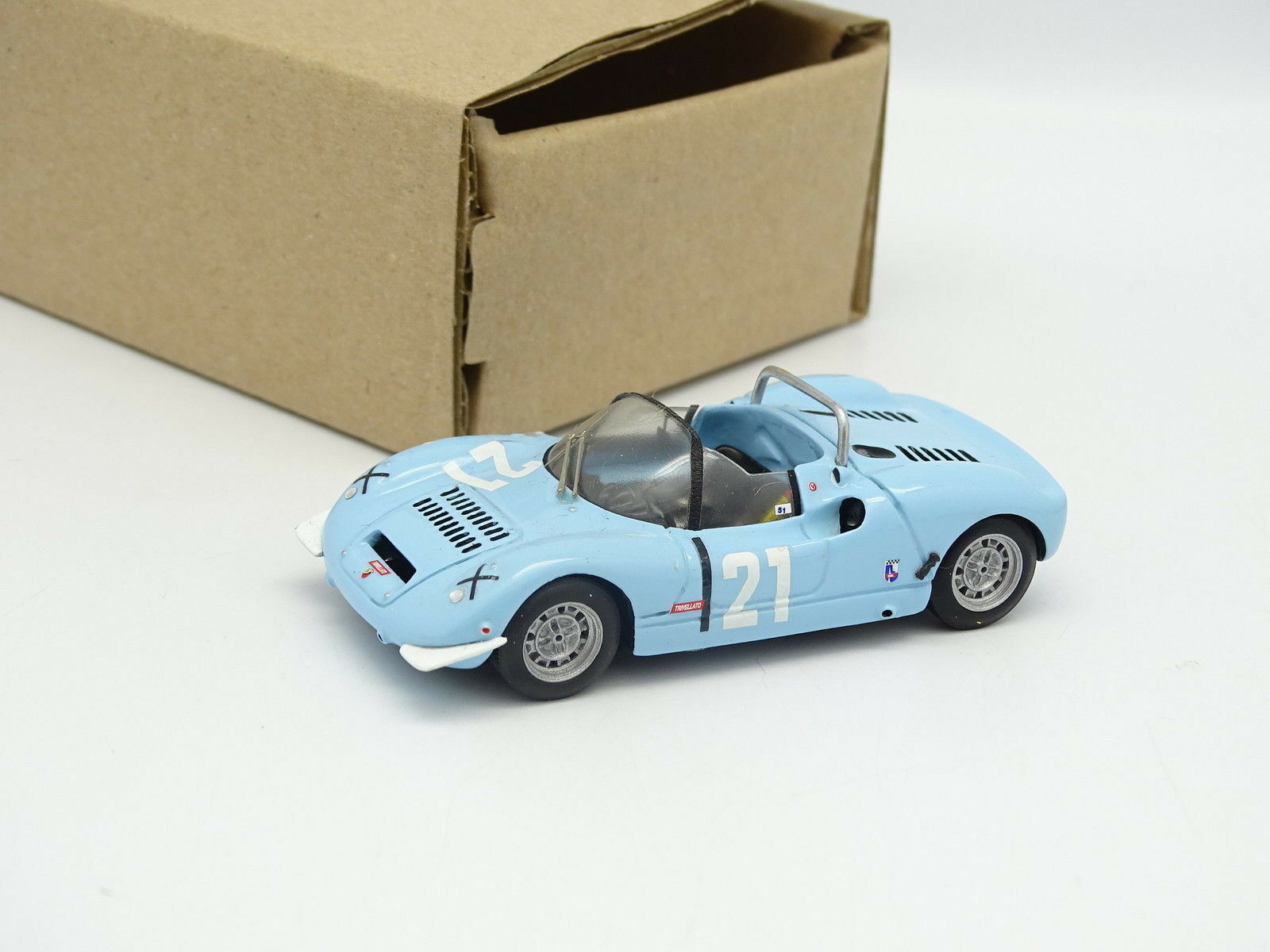 Car Pin Models Kit Assembled Sb 1 43 - Fiat Abarth 1000 Sp Racing Imola 1968