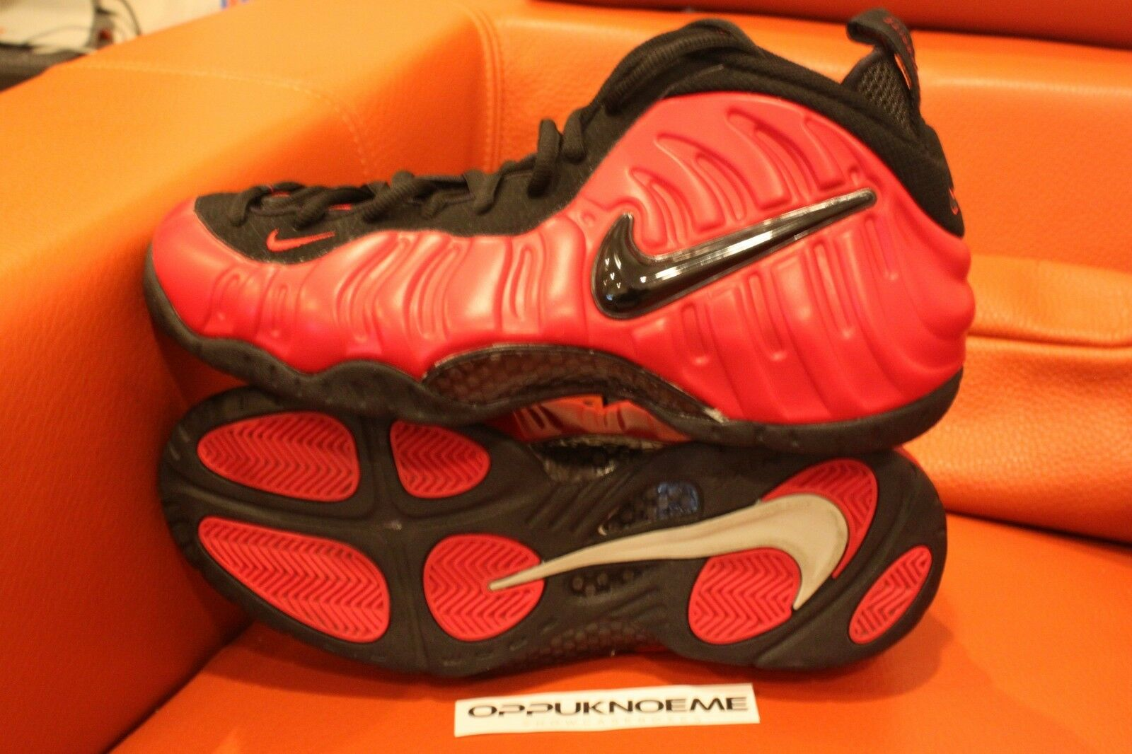 New Nike Air Foamposite Pro Varsity Red black Sz 10 foams 624041 602 one penny