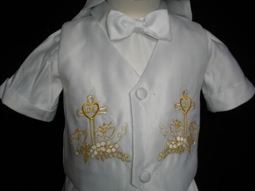 0-24M Baby Boy Communion Christening Baptism Shorts Outfit Suit set size 01234