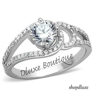 1-65-CT-ROUND-CUT-CZ-STAINLESS-STEEL-ENGAGEMENT-RING-BAND-WOMEN-039-S-SIZE-5-10
