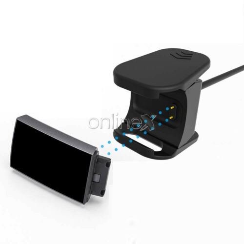 Dock USB Compatible Válido para FITBIT CHARGE 3 Negro a0515 Cable Base Carga