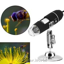 USB 1000X Microscope Endoscope Magnifier Digital Video Camera Microscope 8 LED