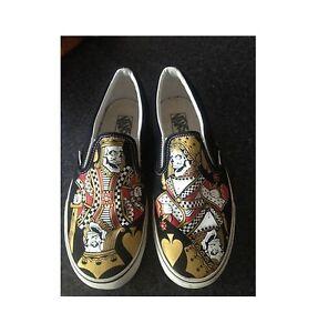 Shoes Vans Slip On Exclusive Skull King   Queen Skull King of the ... 76d5d3daa