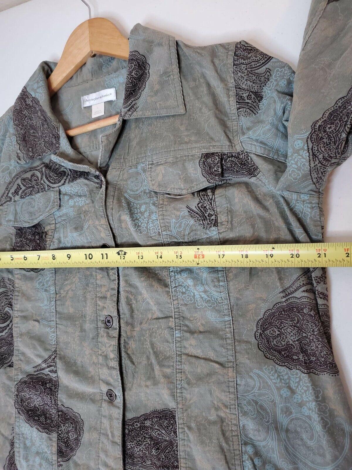 Christopher And Banks Corduroy Jacket Paisleys To… - image 3