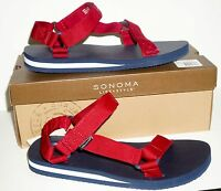 Sonoma Life+style Men's Leoredsummer Sandal Shoes Beach Size 11 Med In Box