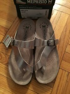 Mephisto Helen Silver Leather Arch