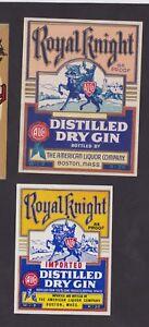 Ancienne-etiquette-Alcool-Etats-Unis-BN24332-Royal-Knight-Chevalier-Dry-Gin