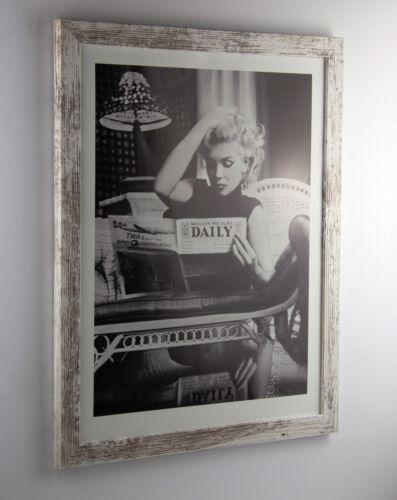 Bilderrahmen Orion Holz Vintage Poster Rahmen Modern Schmal Kantig  60x80 80x60