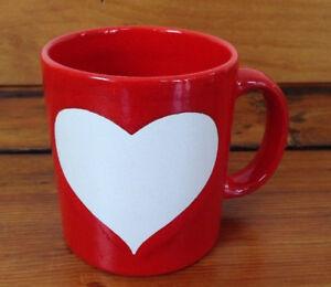 Germany Blanc De D'origine Grand Café Afficher Waechtersbach Détails St Valentin Rouge Cœur Céramique Le Sur Tasse En Titre 2WIED9HY