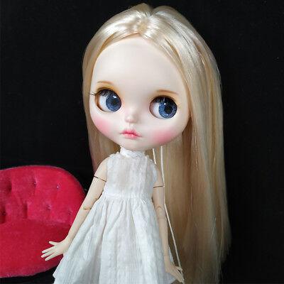 Blythe Nude Doll from Factory Light Golden Hair Make-up Eyebrow Sleeping Eyes