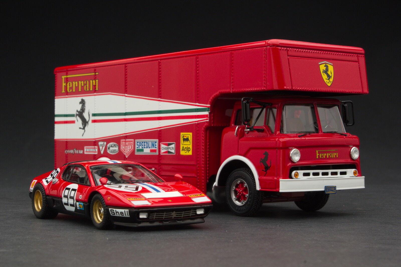 Exoto 43 Ferrari Race Car Transporter EXO00015