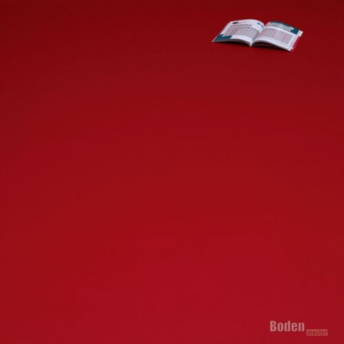1m²//13,90€ PVC CV Vinyl Bodenbelag Einfarbig Uni Rot Red Breite 3 m