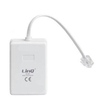 Filtro Splitter Voce Adsl Linq Sp-467 Telefonico Sdoppiatore Telefono Fax Adsl Buono Per L'Energia E La Milza